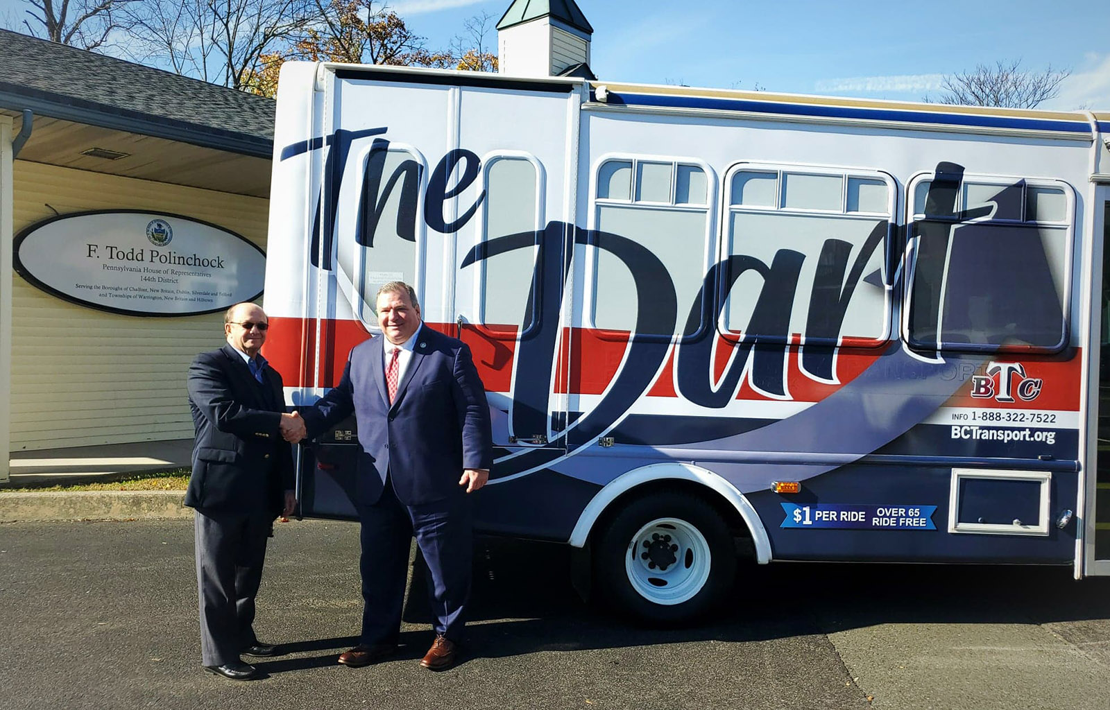 Polinchock Announces Grant to Extend Doylestown DART Bus Route